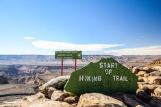 Starting point of the Fish River Canyon hiking trail at Hobas Go Hiking, Hiking Trails, Visiting The Grand Canyon, Beyond The Horizon, River Lodge, Helicopter Tour, Game Reserve, Group Tours, Day Hike