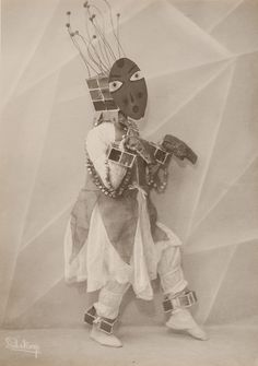 "Dance costume for ""Insektentänzer"" (1924), black and white positive on silver gelatin paper"