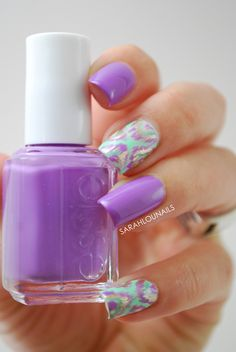 Purple, blue, cheetah hotness! (Ok, so it's not really cheetah, but that's how I'm going to design my nails)