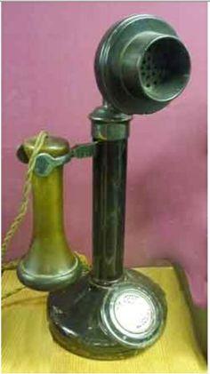 1920s candlestick telephone.