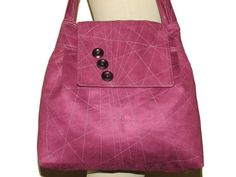 75- light purple bag, purse, handmade, faux suede