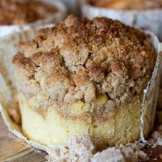 New York-Style Coffee Cake Crumb Muffins Very much like the cake I make.  Never tried it with buttermilk or yogurt though.