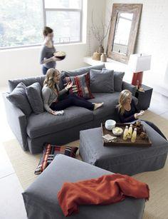 Lounge Slipcovered 93-inch Sofa