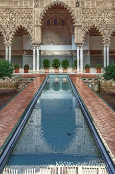 Patio del Alcazar de Sevilla by MViejoPhoto on España. Art Et Architecture, Islamic Architecture, Beautiful Architecture, Andalucia Spain, Andalusia, Places To Travel, Places To Go, Spain And Portugal, Roadtrip