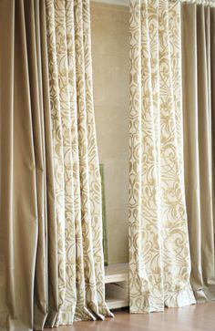Materials combination Curtains Klimt inspired by MyHomeStylist