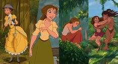 JaneTransformation never noticed this before, her style changes through the movie to symbolise her love for Tarzan! click through for more Iconic Disney changes