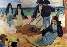 Paul Gauguin - Post Impressionism - Les ramasseuses de Varech - 1889