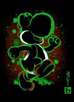 Yoshi, Super Mario World Yoshi, Cartoon Wallpaper, Iphone Wallpaper, Super Mario Art, Graffiti Characters, Mario And Luigi, Video Game Art, Disney Art, Cartoon Art