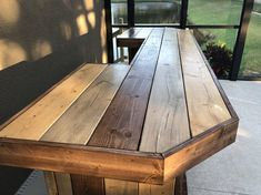 The Plank Top Maggie 8' Rustic Finished Barnwood or