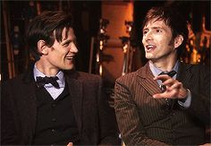 Eleven and Ten (Or is it Twelve and Eleven now...? I don't think I'll adjust well if we start renaming the Doctors) [gif]