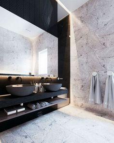 Contemporary bathrooms 123708321001601820 - 55 Minimalist Bathroom Interior Design Ideas Source by kylieak Modern Contemporary Bathrooms, Modern Master Bathroom, Simple Bathroom, Modern Bathroom Design, Bathroom Interior Design, Modern Interior Design, White Bathroom, Bathroom Ideas, Minimalist Bathroom Design