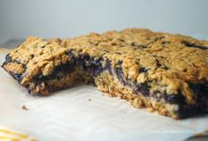 Roasted Blueberry Oat Bars for only 6 Weight Watchers PointsPlus and 254 calories