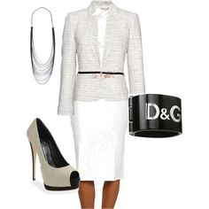 White Work Outfit...Fabulous!!