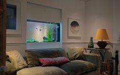 Built In Fish Tank - Sherlock House - Aquarium Architecture Custom Aquariums, Tanked Aquariums, Aquarium Architecture, Vivarium, Aquarium Fish, Fish Tank, Sherlock, Terrarium, Living Room Designs