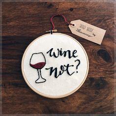 Stickrahmen Wein nicht von Luaverno auf Etsy