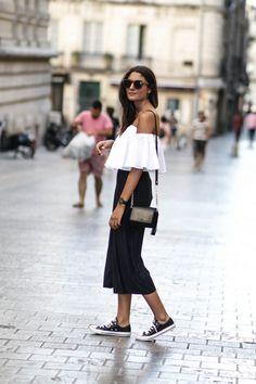 La jupe culotte est une des grosses tendances à adopter pour la rentrée 2016! Voici un exemple de look qui pourra vous inspirer pour la porter à votre tour!