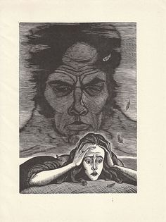 Wuthering Heights - Fritz Eichenberg - I have this book and the etchings scared me to death when I was a kid....