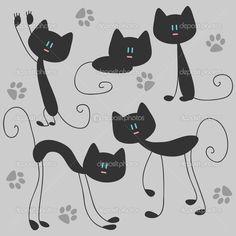cute cat vector - Google Search