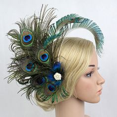Women Peacock Feather Hairpin Party Hair Clip Fascinator Headpiece New Design in Clothes, Shoes & Accessories, Women's Accessories, Hair Accessories   eBay
