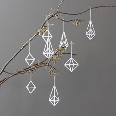 Modern Himmeli Ornaments $49.00 Set of 8 #geometric #modern #ornaments #homedecor