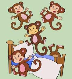 1000 images about 5 little monkeys