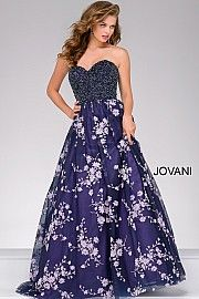 Multi Color Sweetheart Neck Embellished Ballgown 41004