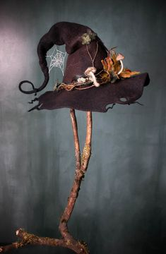 Hand felted witch hat by Lalabug Designs