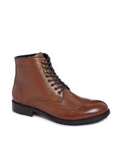 H By Hudson Leather Brogue Boots