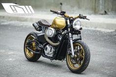 Honda Shadow Brat Style by D-I motorsport #motorcycles #bratstyle #motos | caferacerpasion.com