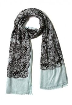 Floral Lace Print Scarf - apparently no longer available but easily made with some lace and pashmina-style scarf.