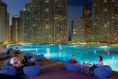 Luxury Design Bars in Dubai to Inspire Your Home Bar Marina Restaurant, Luxury Restaurant, Dubai Airport, Burj Al Arab, Beach Hotels, Inspired Homes, Bars For Home, City Lights, Skyscraper
