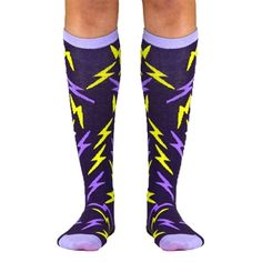 Yakety Yak! Knee Socks - Bolt (Purple/Lavender) | Running Knee Socks | Runners Knee Socks