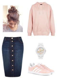 Untitled #891 by bye18 on Polyvore featuring polyvore fashion style New Look River Island adidas Originals adidas clothing