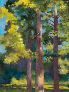 Recently produced landscape paintings by Lynn Goldstein