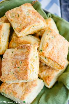 Savory Goat Cheese & Chive Biscuits