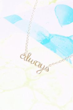 Always Necklace  Harry Potter Snape Love Quote by Exaltation, $18.00