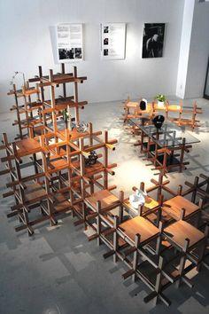 minimal building block furniture by kengo kuma and associates building japanese furniture