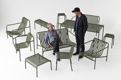 Lauched at Paris & Objet 2015 // The new serie of outdoor furniture by HAY. Designed by Ronan & Erwan Bouroullec. For sale in 2016