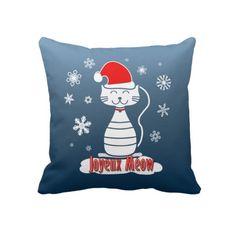 Joyeux Meow Throw Pillows