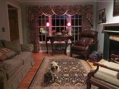Living Room Make-Over! {Tan, White, Blue}