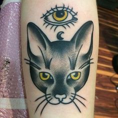 Tattoo by Mike Kennedy @miserable_mike_ftw  MIke is here Sunday's and Mondays and always accepting walk-ins and appointments ! Email the shop FamilyTattoo@gmail.com to book! #americantraditional #traditionaltattoo #tattoo #roscoevillage #chicagotattooshops #chicago #familytattoochicago #catsofinstagram #cattattoo #traditionaltattoo