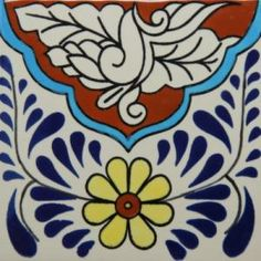 Decorative Tile Art This Cuerda Seca Decorative Tile Has A Traditional Design With A