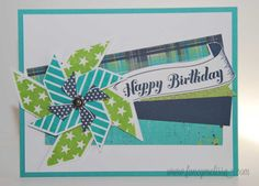 card by Melissa Laverty using CTMH Later Sk8r paper.... (change sentiment)