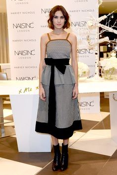 46dd020a5fdb40 Alexa Chung in an Isa Arfen dress - Nails Inc launch, Liverpool - November  10