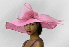 Kentucky Derby Large Bow Sinamay Floppy Hat by ffortissimo