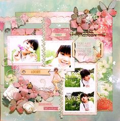 Kaisercraft Products Used Glitter Specialty Fly kaori Scrapbook Pages, Scrapbooking Ideas, Scrapbook Layouts, Enchanted Garden, Some Ideas, My Books, My Photos, Card Making, Paper Crafts