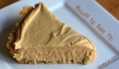 No Bake Biscoff Pie