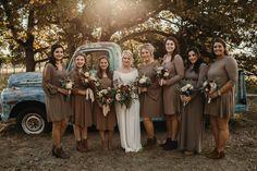 Rustic Fall Wedding // Bridesmaids, Oklahoma wedding photography, Oklahoma brides, rustic weddings