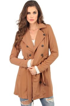 Taupe Play The Part Trench   WindsorCloud