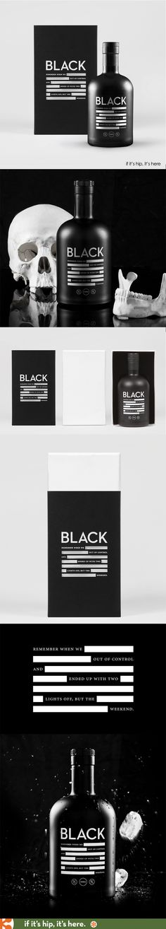 Norway's Black Vodka with its wonderful minimalist package design by Anti